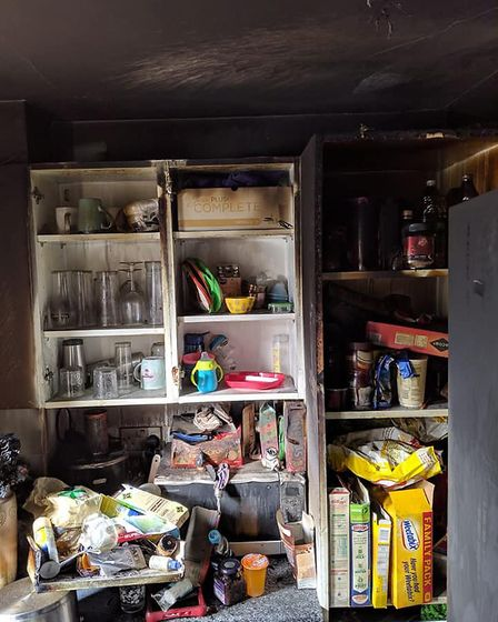 Not much could be saved from the home in Godmanchester