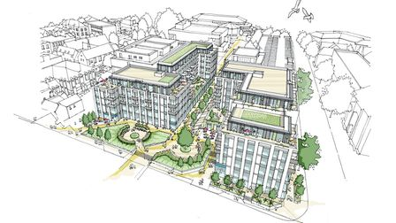 How the CCOS site might look when the redevelopment is finished. Picture: St Albans district council