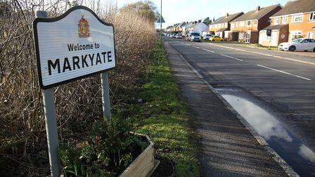 Welcome to Markyate. Picture: Danny Loo