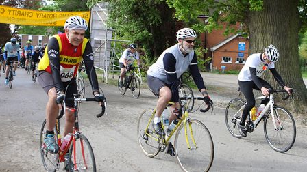 St Albans Rotary Charity Cycle Ride in 2017. Picture: Karyn Haddon