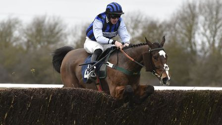 Favourite Little Bruce clears a fence on the way to Cambridgeshire National glory at Huntingdon Race