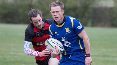 Pete Fahey scored one of the St Ives tries in their victory at Olney. Picture: PAUL COX