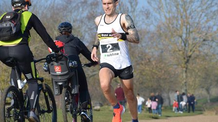 BRJ man John Uff on his way to second place in the Peterborough Winter 10k. Picture: SUBMITTED