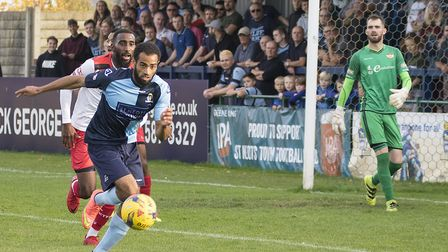 Gary Wharton hit the only goal as St Neots Town beat Barwell. Picture: CLAIRE HOWES