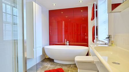 One of the property's two re-fitted bathrooms. Picture. Giggs & Bell