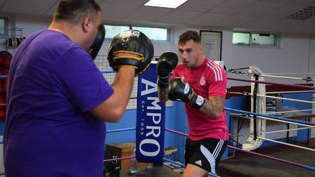 St Ives talent Bradley Smith in training ahead of his fight this Saturday. Picture: SUBMITTED