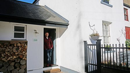 Artist Stuart Beck outside his St Albans home, which was crowned top terrace in The Best House in To