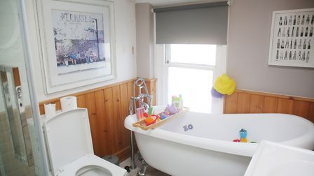 Interior designer Randa thought the bathroom would benefit from a Velux window. Picture: DANNY LOO