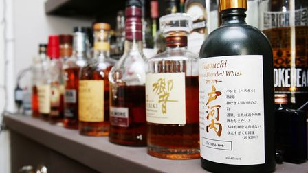 """""""That's my little collection,"""" says Stuart. """"I tend to look at it more than I drink it these days."""""""
