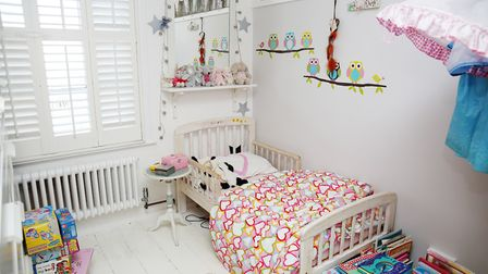 Three-year-old Peggy's room. Picture: DANNY LOO
