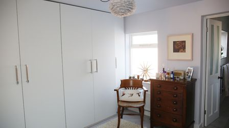The couple's dressing room replaced a bedroom. Picture: DANNY LOO