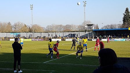 St Albans City hosted Truro City in the February sunshine at Clarence Park in the National League So