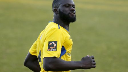 Dave Diedhiou enjoys his late equaliser. Picture: LEIGH PAGE