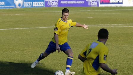 Michael Clark in action against Truro City. Picture: LEIGH PAGE