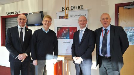 From left to right: Alan Gray, Jon Jones, Paul Ramsey and Jed Whelan at the Alban Academies Trust Co