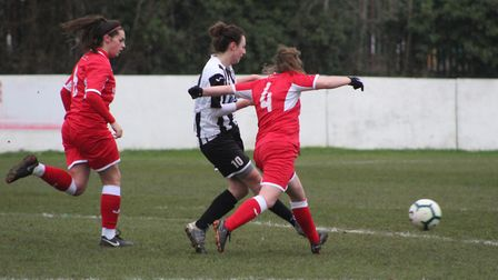 Harriet Ford scored for St Ives Town Ladies as they beat Stevenage Reserves. Picture: GARY REED PHOT