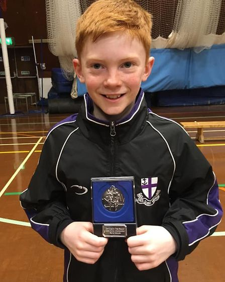 Alasdair Large of Hunts AC finished second in the Under 11 Boys category at the East Anglian Prep Sc