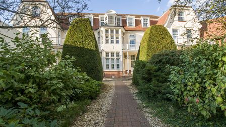 Pinehill Hospital is located on a quiet residential street in Hitchin with wooded surroundings.
