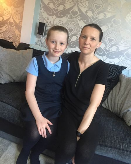Tanya Page from St Albans with her daughter Chloe, who did not get a school place. Picture: Tanya Pa