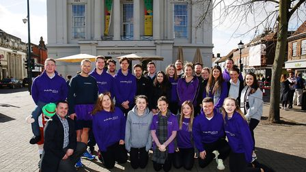 Team Understanding Recruitment at the St Albans pancake race 2019. Picture: DANNY LOO