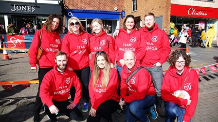Team Wagada Digital Marketing at the St Albans pancake race 2019. Picture: DANNY LOO