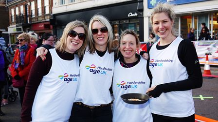 Team Age UK Hertfordshire at the St Albans pancake race 2019. Picture: DANNY LOO