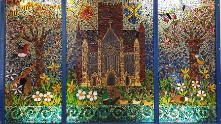 A mosaic of The Abbey Primary School, where pupils will be singing at Westminster Abbey on Commonwea