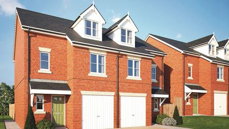 The three-bed 'Arkley' homes at Waverley Green are priced at £680,000. Picture: Aitchisons