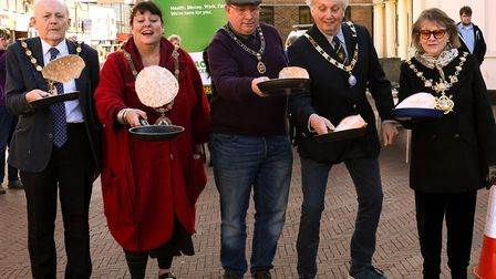 The annual pancake flipathon took place in Huntingdon. Picture: ARCHANT