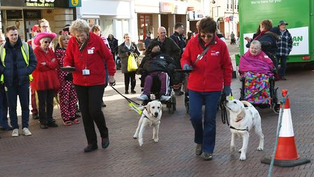 Action from this year's pancake flipathon in Huntingdon. Picture: ARCHANT