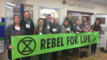 Climate campaigners attended St Neots Town Council to support Cllr Green's motion