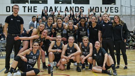 A record crowd roared Oaklands Wolves to victory over Newcastle Eagles in the WBBL in a special 'bla