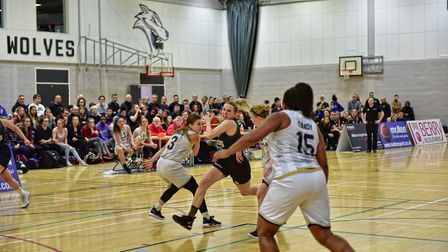 Tia Freeman in action for Oaklands Wolves against Newcastle Eagles in the WBBL. Picture: LELLO AMETR