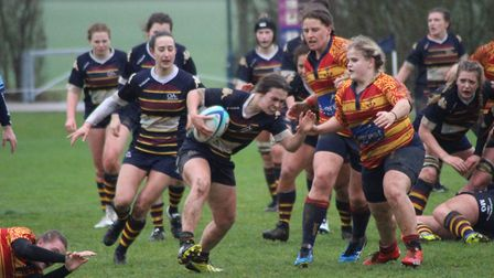 Mairead Ladbrooke in action for OA Saints against Medway. Picture: EMMA COOKE