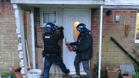 Herts police conducting the drug raids around St Albans. Picture: Herts police