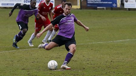Sam Merson's penalty gave St Albans City a point at fifth-placed Welling United. Picture: LEIGH PAGE
