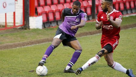 Khale Da Costa in action against Welling United. Picture: LEIGH PAGE