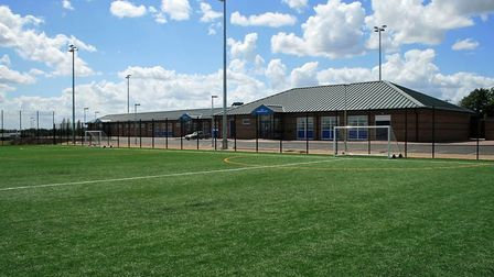 St Neots Town Football Stadium in Loves Farm Picture: SNTF