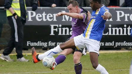 Ben Herd in action against Wealdstone for St Albans City. Picture: LEIGH PAGE