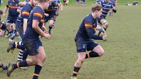 Tabard skipper Jack Reilly in action against Harrow.