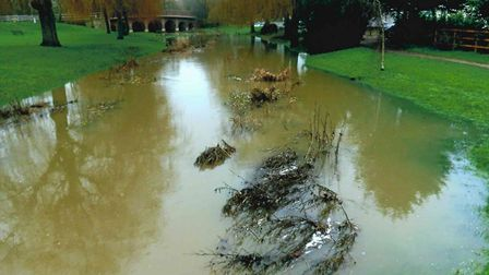 How London Colney's Telford Bridge looks when water levels are high enough. Picture: Ken Peak