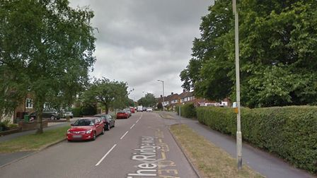 A teenage boy was stabbed in The Ridgeway, St Albans. Picture: Google Street View