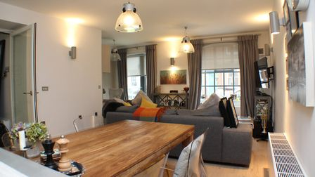 """The open plan living room/kitchen measures 27'3"""" max x 15'9"""". Picture: Bradford & Howley"""