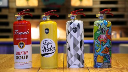 3. Designer fire extinguishers. These vibrant units will leave no one in any doubt about where to tu