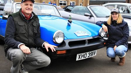 This 1979 MG Midget has belonged to Simon and Becky Pentchard from Hornchurch for 30 years. Picture: