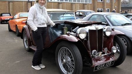 An MG TC, built back in 1947, belonging to Caroline Underwood. Picture: Clive Porter