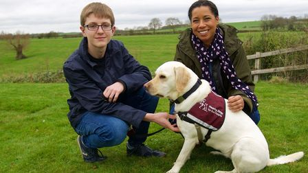 Oscar Williamnson and his assistance doge Rosie met Margherita Taylor from Countryfile