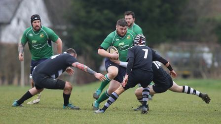 Datchworth V Royston - Nick Gudgin in action for Datchworth.Picture: Karyn Haddon