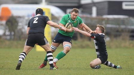 Datchworth V Royston - Stuart Young in action for Datchworth.Picture: Karyn Haddon