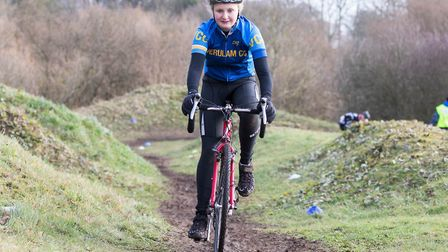 Verulam Cycling Club's Molly Barker at the Muddy Monsters event. Picture: JUDITH PARRY PHOTOGRAPHY